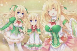 blonde, Hair, Breasts, Cleavage, Compile, Heart, Dress, Hyperdimension, Neptunia, Long, Hair, Thighhighs, Tsunako, Vert