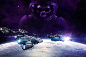 vega, Conflict, Sci fi, Action, Fighting, Futuristic, Space, Spaceship, Mmo, Online, Rpg, 1vegac, Poster, Skull, Astronaut, Dark, Skull