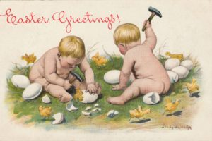 postcard, Paper, Poster, Advertising, Vintage, Retro, Antique, Easter