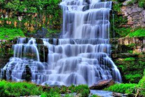 cascadas, Agua, Vegetacion
