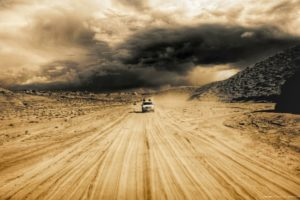storm, Weather, Rain, Sky, Clouds, Nature, Desert, Sand, Road
