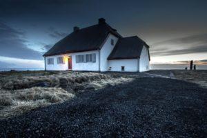 iceland, Gullbringusysla, Seltjarnarnes, Iceland, Landscape, House, Light, Evening