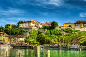 germany, Houses, Lake, Marinas, Trees, Hdr, Meersburg, Lake, Constance, Cities