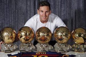 futbolista, Leo, Messi, 5, Balones, Oro, Barcelona, Argentina