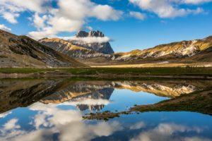 sky, Clouds, Mountain, Lake