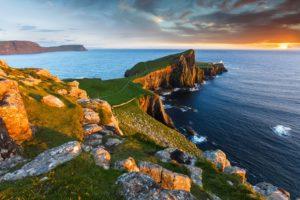 scotland, Lake, Coast, Scenery, Stones, Sea, Sky, Milovaig, Nature