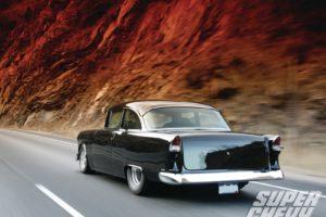 1955, Chevrolet, 210, Sedan, Two, Door, Hotrod, Streetrod, Hot, Rod, Street, Black, Usa, 1600×1200 01