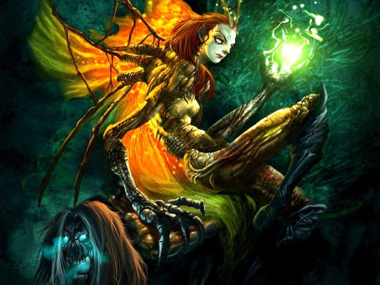 dark, Art, Artwork, Fantasy, Artistic, Original, Psychedelic, Horror, Evil, Creepy, Scary, Spooky, Halloween HD Wallpaper Desktop Background