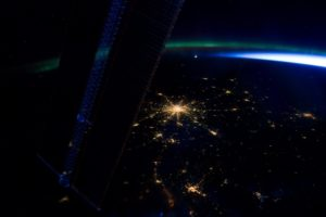 view, The, City, Lights, From, Space, Beauty