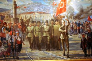 soldiers, Artwork, Turkey, Army, Ata, Ataturk, Turk, Turkish, Flag, Turks, Art, Oil, Painting, Table