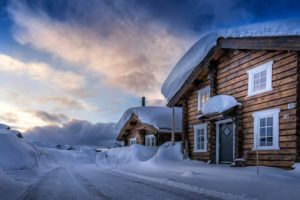 landscape, Snow, Cottage, Sky, Nature, Snowy, House, Winter, Time, Path, Winter, Road, Clouds