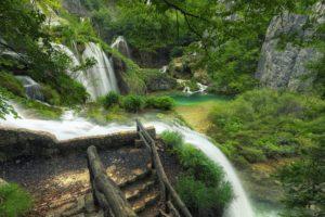 waterfalls, Rivers, Croatia, Parks, Plitvice, Lakes, Nature