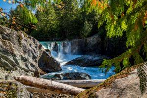 canada, Rivers, Waterfalls, Stones, Trees, Cheakamus, River, British, Columbia, Nature