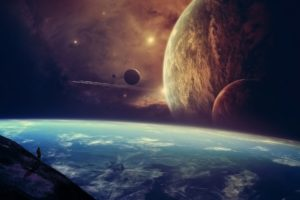 artwork, Concept, Art, Planet, Space, Sky, Stars