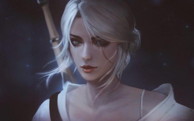 fan, Art, Portrait, The, Witcher, 3, Wild, Hunt, White, Hair, Cirilla, Fiona, Elen, Riannon, The, Witcher HD Wallpaper Desktop Background