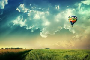 clouds, Nature, World, Fields, Fly, Hot, Air, Balloons