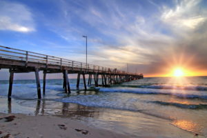 south, Australia, Adelaide, Grange, Sea, Bridge, Landscape, Ocean, Waves, Beach