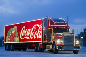 2009, Freightliner, Classic, Coca, Cola, Christmas, Semi, Tractor, Drink