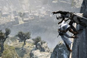 video, Games, Assassins, Creed, Cliffs, Digital, Art, Artwork