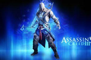 video, Games, Blue, Assassin, Assassins, Creed, Assassins, Creed, 3, Fan, Art