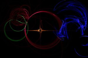 abstract, Multicolor, Waves, Circles, Digital, Art, Backgrounds, Colors