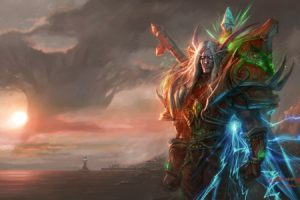video, Games, World, Of, Warcraft, Blood, Elf, Fantasy, Art, Armor, Artwork, Yaorenwo