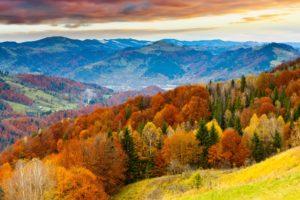 sunset, Sky, Winter, Mountains, Beautiful, Trees, Landscape, Clouds, Autumn