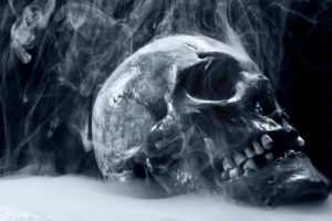 dark, Skull, Horror, Scary, Creepy, Spooky, Evil, Occult, Bone, Teeth, Eyes, Steam, Mist, Cold, Frozen, Cg, Digital, Art, 3d, Macabre, Death, Reaper