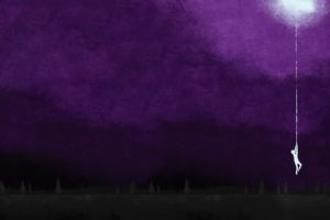 moon, Silhouettes, Hanging, Artwork, Album, Covers, Purple, Background, August, Burns, Red