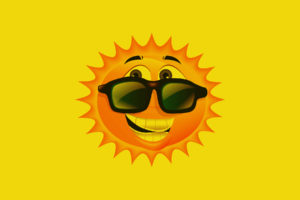 cartoon, Smile, Smiley, Sun, Summer, Seasons, Glasses, Sunglasses, Eyes, Art, Vector, Abstract
