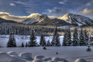 nature, Landscapes, Mountains, Trees, Forest, Wood, Winter, Snow, Seasons, Sky, Clouds, Fog, Sun, Sunlight