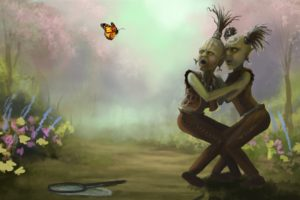 fantasy, Art, Monsters, Creatures, Butterfly, Scary, Creepy, Spooky, Humor, Insect, Nature, Flowers