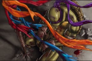 blue, War, Red, Blood, Orange, Purple, Teenage, Mutant, Ninja, Turtles, Sad, Fantasy, Art, Donatello, Artwork, Band, Abstract, Arts, Hd, Wallpaper, Movies, Game