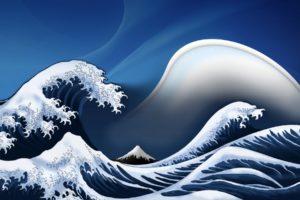 waves, Digital, Art, Artwork, The, Great, Wave, Off, Kanagawa