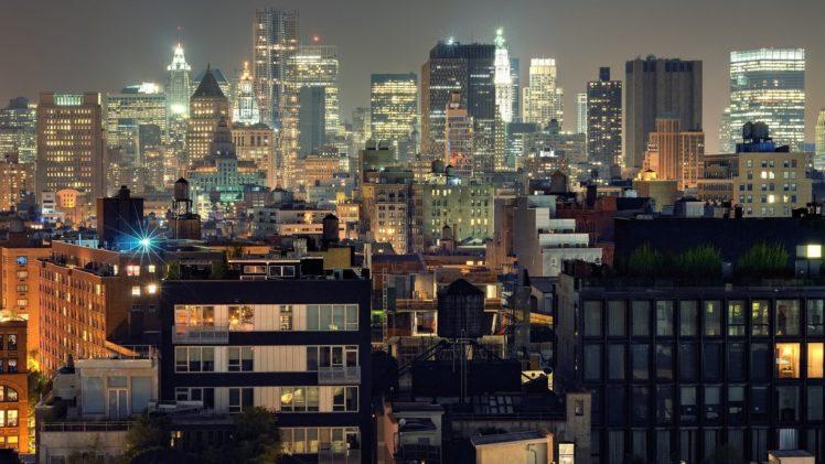 cityscapes, Towns, Manhattan, Skyscrapers, City, Skyline, Cities HD Wallpaper Desktop Background