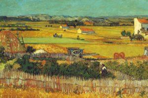 paintings, Landscapes, Fields, Vincent, Van, Gogh, Artwork, Plaine, De, La, Crau