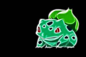 pokemon, Bulbasaur, Black, Background