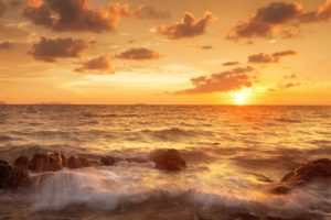 sand, Sea, Sky, Beautiful, Tropical, Sunset, Scene, Clouds, Shore