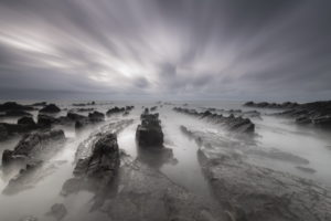 timelapse, Fog, Nature, Beaches, Landscapes, Ocean, Sea, Water, Sky, Clouds, Hdr