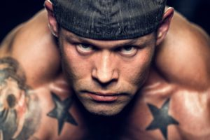 man, Face, Eyes, Tattoo, Fitness, Muscle, Muscles