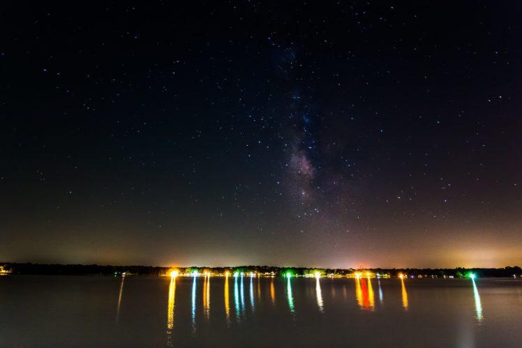 galaxy, Milky, Night, Rock, Sky, Space, Stars, Wallpaper HD Wallpaper Desktop Background