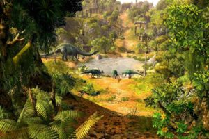 paraworld, Strategy, Fantasy, Prehistoric, Dinosaur, Adventure