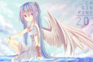 vocaloid, Hatsune, Miku, Diadem, Drawing, Error, Ripples