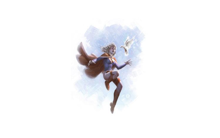 power, Girl, Dc, Bird, Drawing, Dove, White HD Wallpaper Desktop Background