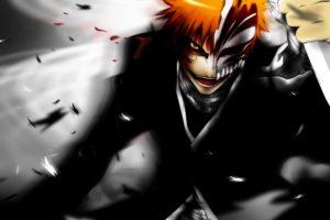 anime, Series, Bleach, Ichigo, Horrow, Dark, Devil, Orange, Hair