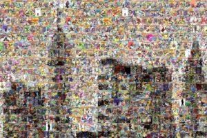 spiderman, Mosaic, Marvel, Comics, Collage, Multi, Dual, Screen