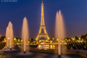 architecture, Cities, France, Light, Towers, Monuments, Night, Panorama, Panoramic, Paris, Urban, Temples