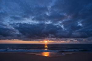 sunset, Clouds, Beach