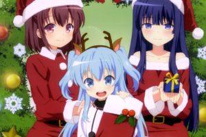 anime, Animal, Ears, Christmas, Dress, Horns, Komiya, Nonoka, Noel,  sora, No, Method , Pantyhose, Sora, No, Method, Thighhighs, Togawa, Shione