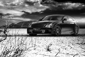 clouds, Cars, Rockets, Monochrome, Greyscale, Mercedes benz